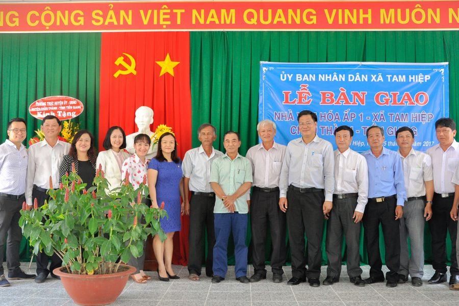 Benthanh Group và các doanh nghiệp thành viên tặng công trình Nhà văn hóa Ấp 1 cho xã Tam Hiệp, huyện Châu Thành, tỉnh Tiền Giang