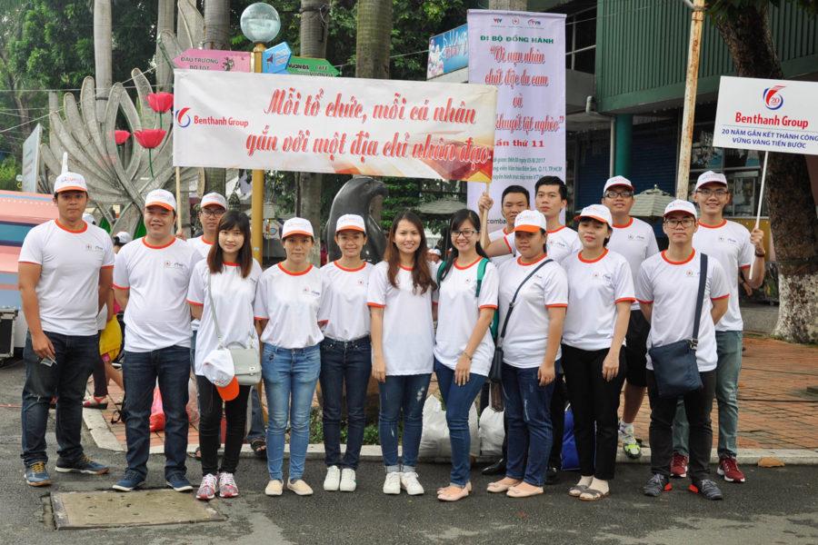"""Benthanh Group tham dự chương trình Đi bộ """"Vì nạn nhân chất độc da cam và người khuyết tật nghèo"""" lần thứ 11"""