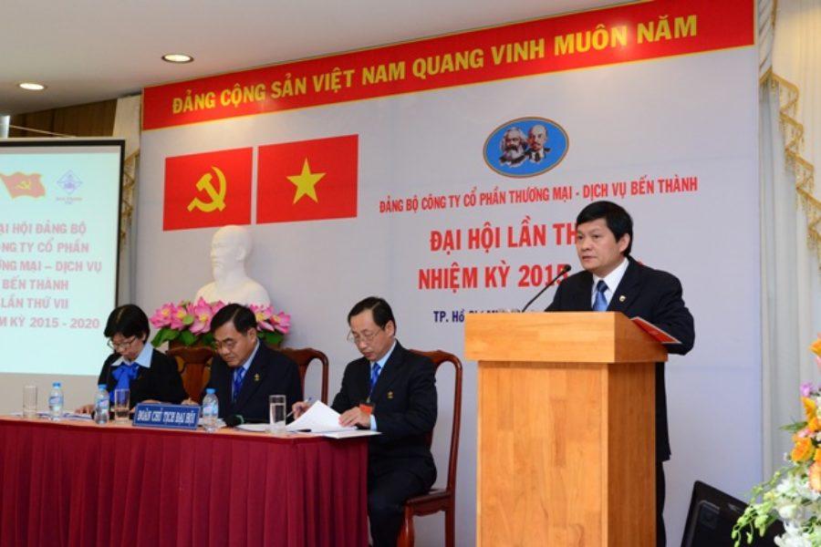 Đại hội các cơ sở Đảng trực thuộc Tổng Cty thành công, tiến tới tổ Đại hội Đảng bộ Tổng Cty Bến Thành NK 2015-2020