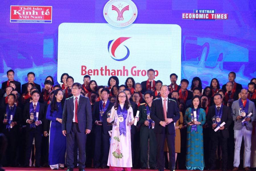 """10 năm liền Benthanh Group được vinh danh """"Thương hiệu mạnh Việt Nam"""""""