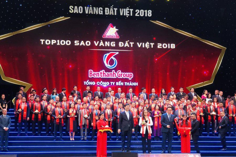 Benthanh Group – Top 100 Sao Vàng đất Việt năm 2018