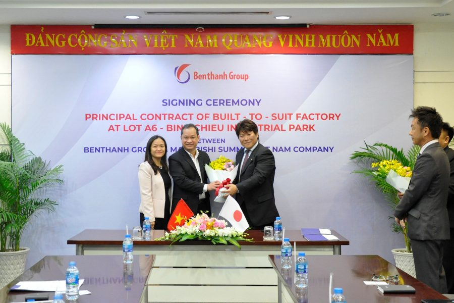Signing Ceremony Principal Contract Of Built – To – Suit Factory At Lot A6 – Binh Chieu Industrial Park, Ho Chi Minh City, Vietnam